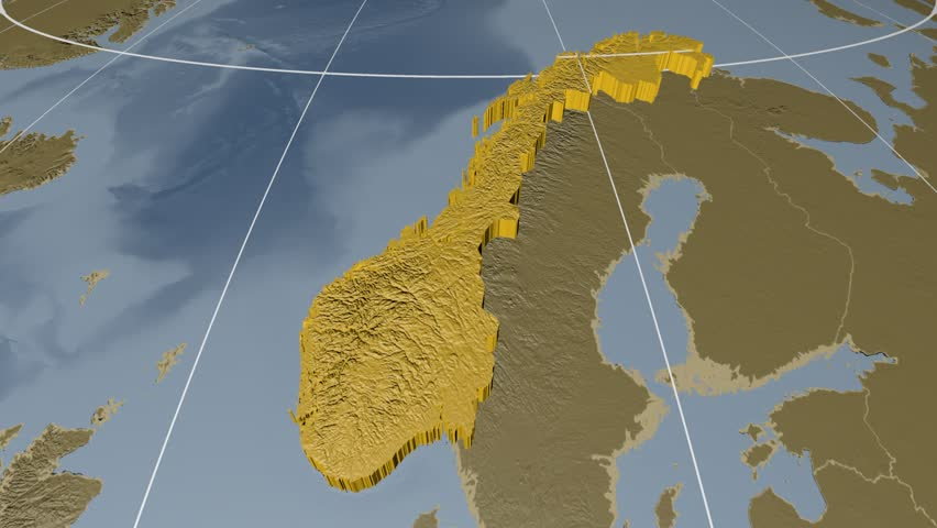 Norway Map Outline Animation Stock Footage Video - Norway map data