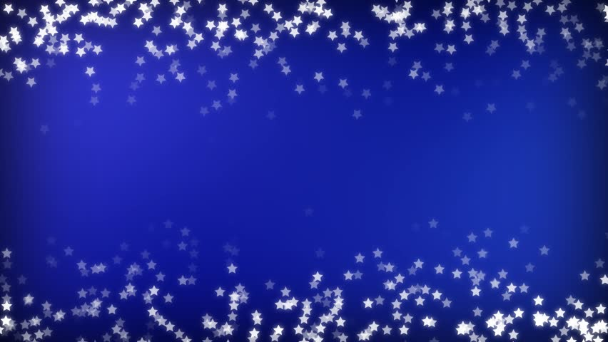 Blue Sparking Star Festive Motion Stock Footage Video (100