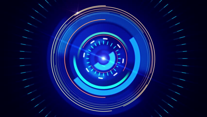Abstract background with animated shapes and circles. HUD Infographic. Blue color. 4K. Loop animation. | Shutterstock HD Video #8281936