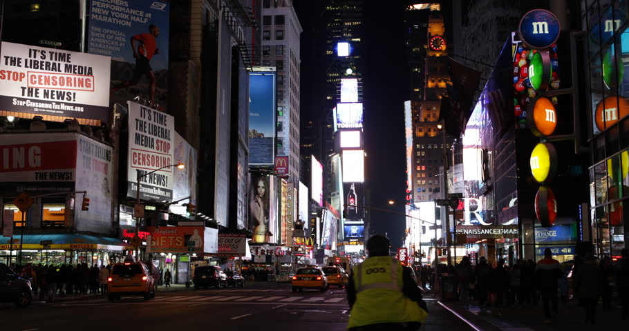 new york city march 23 timelapse of times square