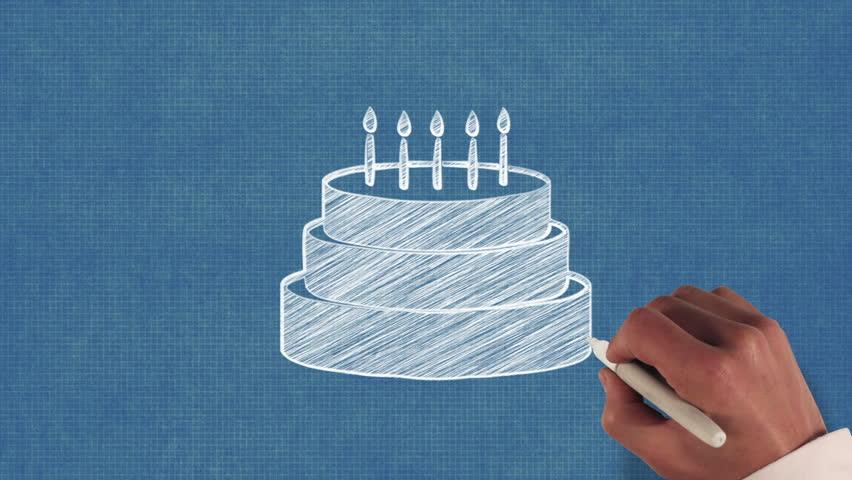 Birthday Cake Blueprint Stop Motion Style Stockvideos Filmmaterial 100 Lizenzfrei 8374516