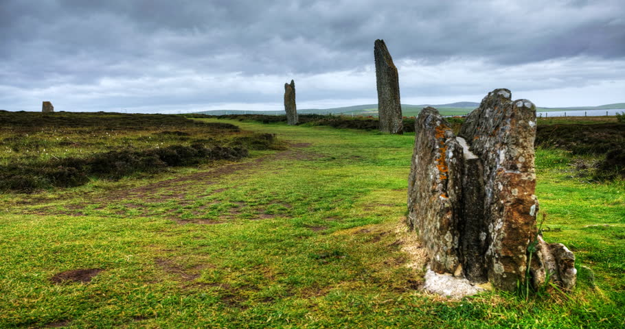 4K UltraHD The Ring of Brodgar in Orkney, Scotland
