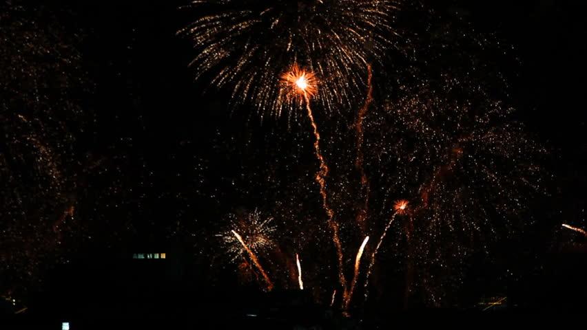 Copacabana Fireworks 2015 New Year Eve | Shutterstock HD Video #8378707