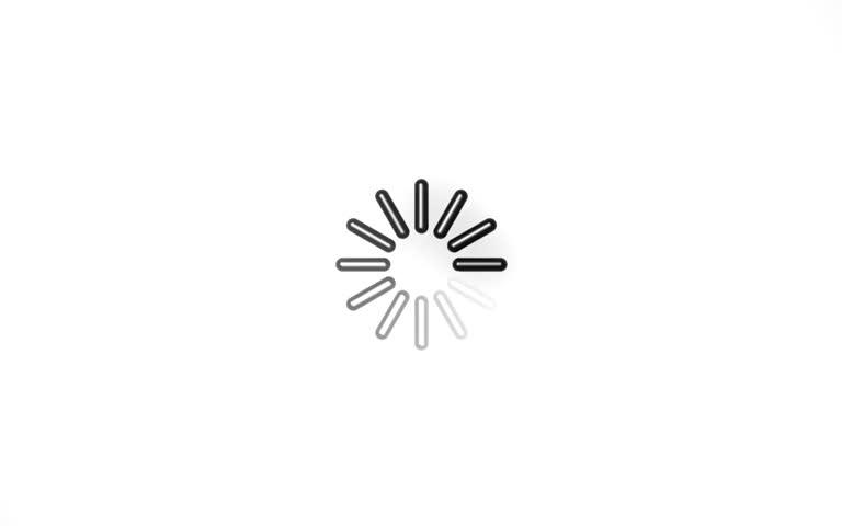 Time loading icon 3D flower Full HD