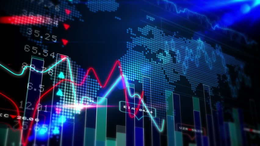 Digital animation of Blue stocks and shares technology screen | Shutterstock HD Video #8414809