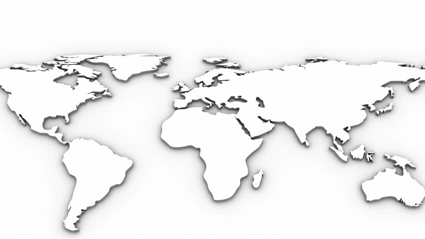 World Map White Background Stock Footage Video Shutterstock - World map white