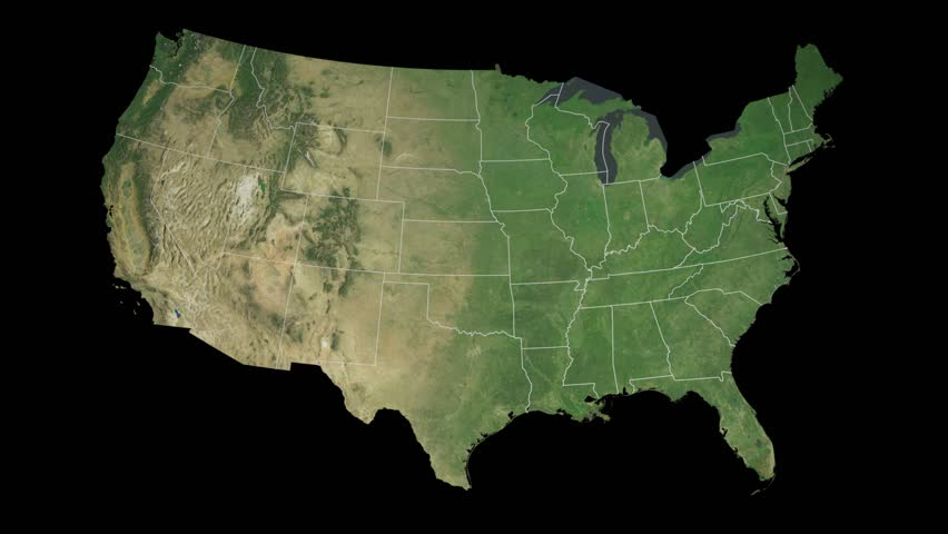 USA Colorado State Denver Extruded On The Satellite Map Of The - Denver colorado in us map