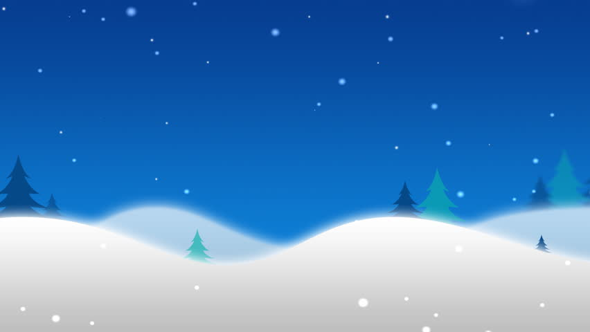 Cartoon Winter Snow Scene Looping Stock Footage Video (100 ...