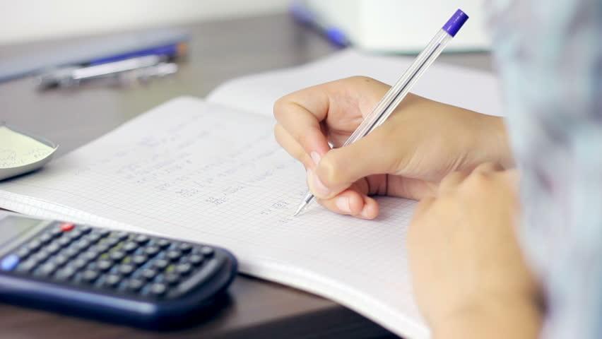 Do math homework neatly