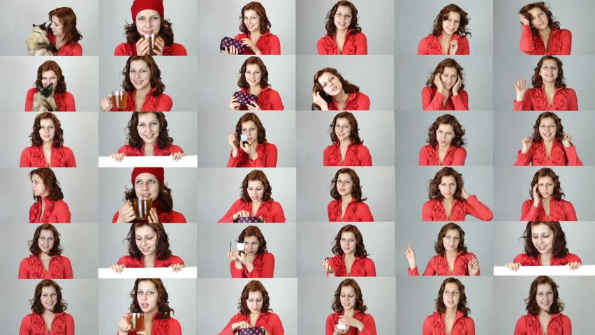 Set - girl in red dress | Shutterstock HD Video #8477773