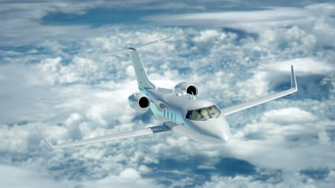 Luxury corporate air travel. Lear jet in 4K.