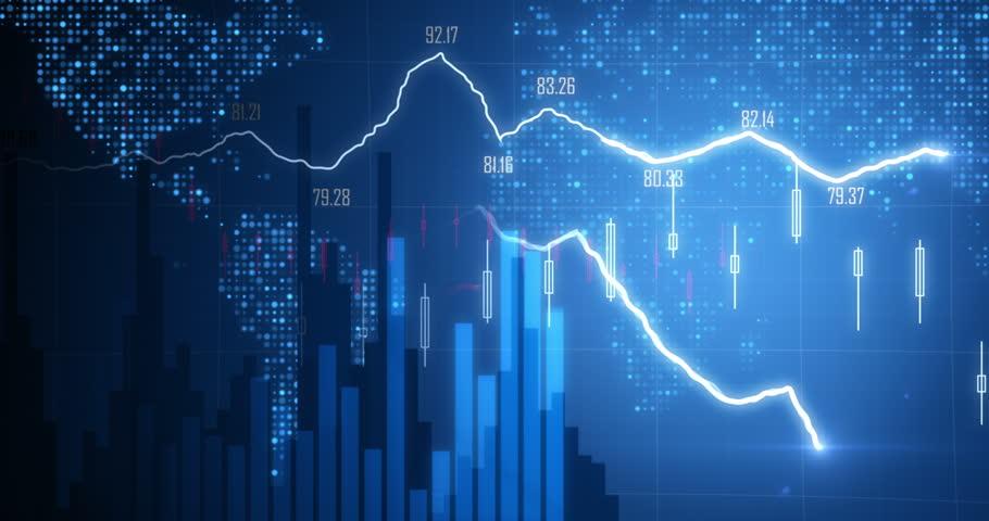 Positive Financial chart In 4K | Shutterstock HD Video #8479720