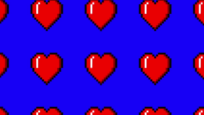 Pixel heart scroll with alpha