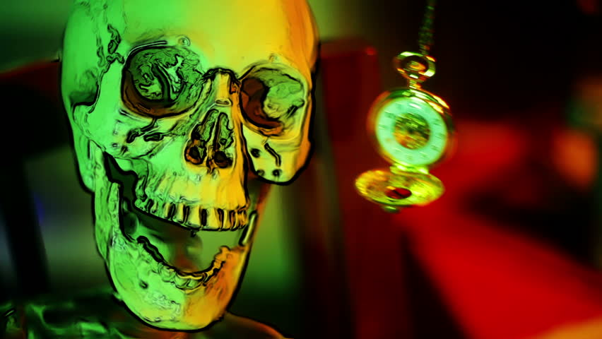 Skeleton and a Pocketwatch, Death Stock Footage Video (100% Royalty-free)  8491306 | Shutterstock