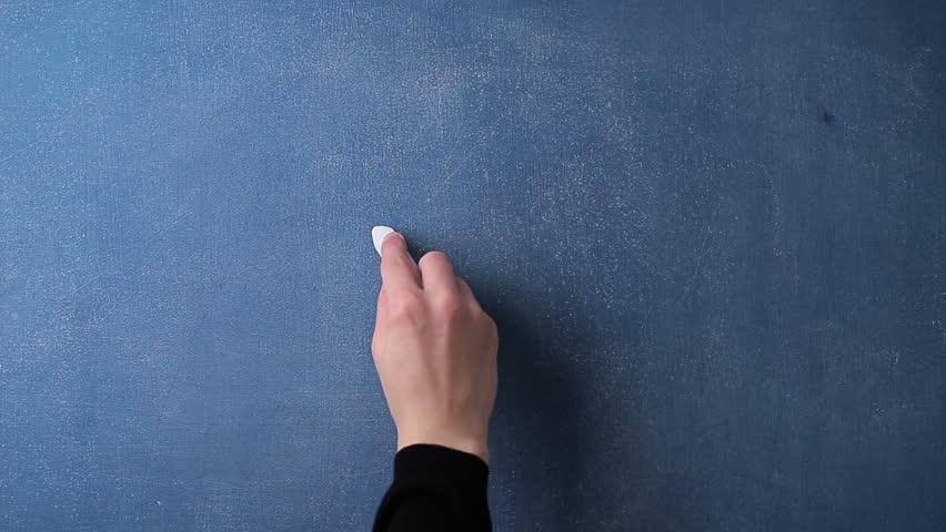 Question mark written with chalk on a chalkboard