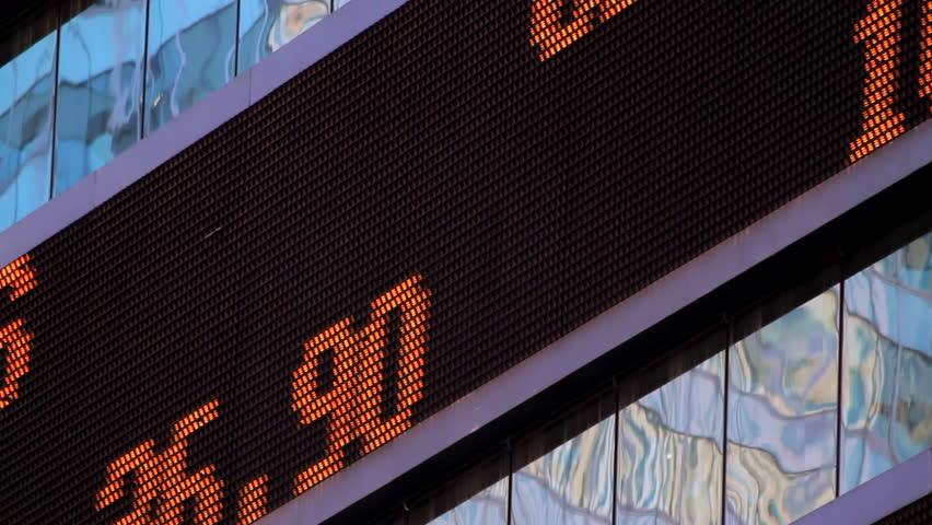 Stock market ticker, close-up, NYC | Shutterstock HD Video #856390