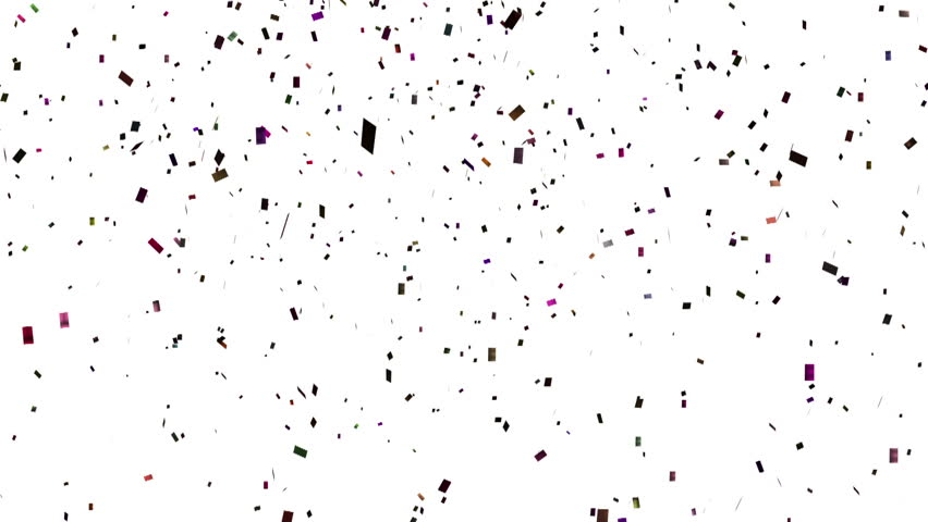 Falling Confetti With Alpha Channel Stock Footage Video 8574946 Shutterstock