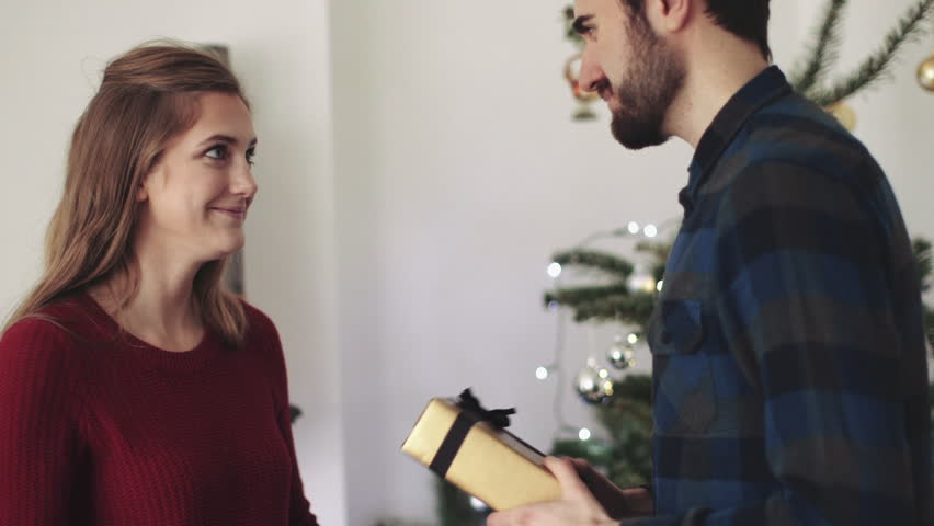 Young Man Giving Gift To Stock Footage Video 100 Royalty Free 8685376 Shutterstock