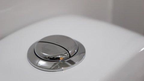 Flushing toilet. Dual flush button toilet,Flush toilet, toilet flush handle