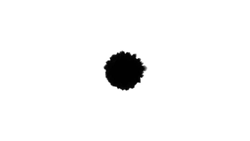 4K Ink Bleed Matte spreading on paper. Great for reveals. | Shutterstock HD Video #8688445