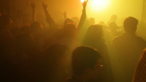Mumbai, India August 1 2014:Footage of a crowd partying in a wedding dance party shot on August 1 2014.