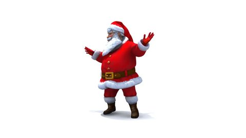 Santa dancing loop, comes with Alpha.
