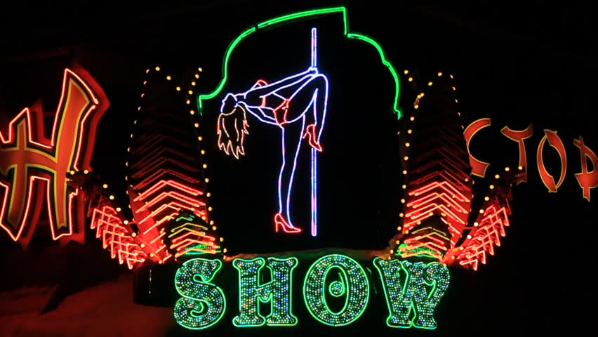 Strip show sign