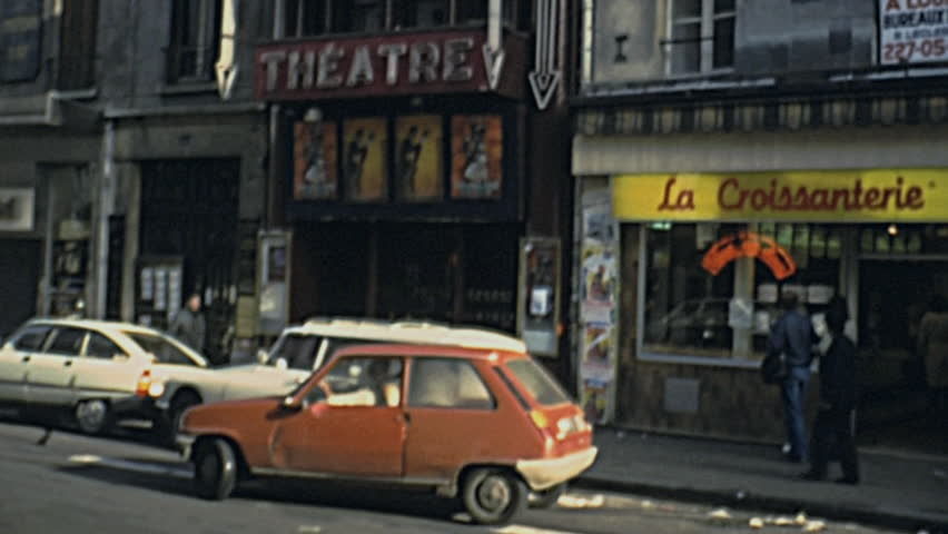 PARIS   1978: Parking A Renault 5 In Front Of Le Palace In Montmartre In
