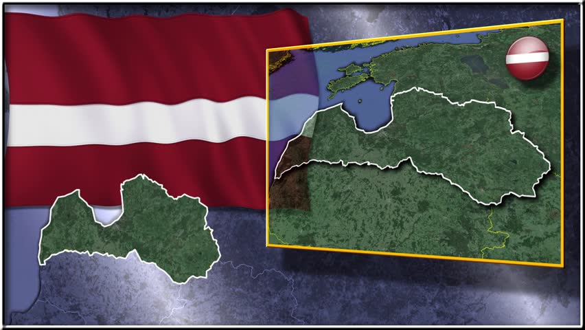 Slovenia Flag And Map Animation Stock Footage Video - Slovenia map hd