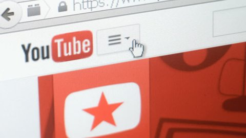 HOLLYWOOD - FEB 10: Surfing YouTube website on February 10, 2015. You Tube is the world's most popular video sharing website.
