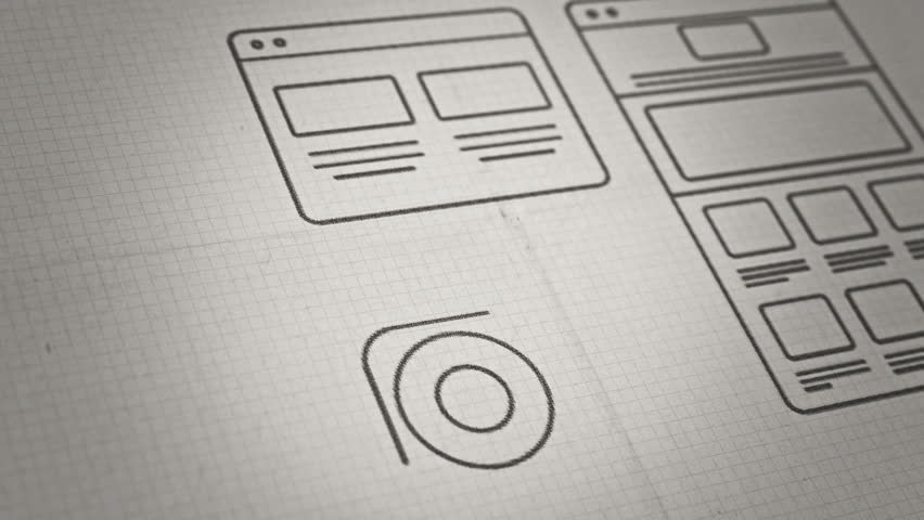 Stylized interface design process blueprint animation concept stylized interface design process sketch animation concept technology drawing animation different colors in my malvernweather Gallery