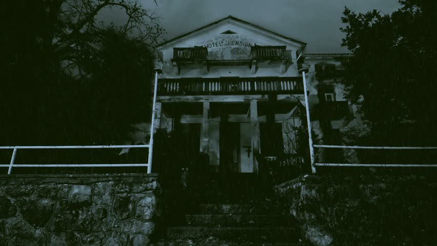 Haunted house on a rainy night   Shutterstock HD Video #8842126