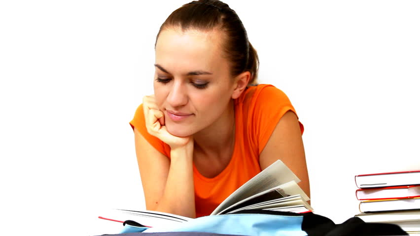 Young Student Lying And Reading Stock Footage Video 100 Royalty Free 886186 Shutterstock