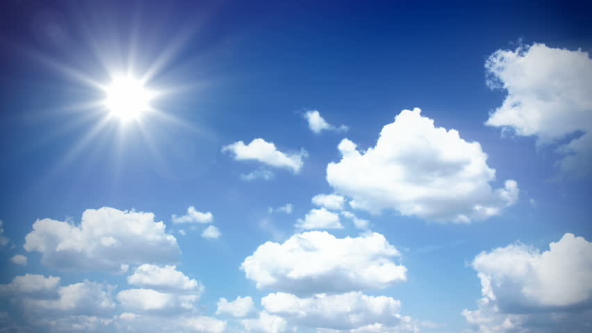 Sunny Sky With Clouds - 1080p Time Lapse Footage Stock ...