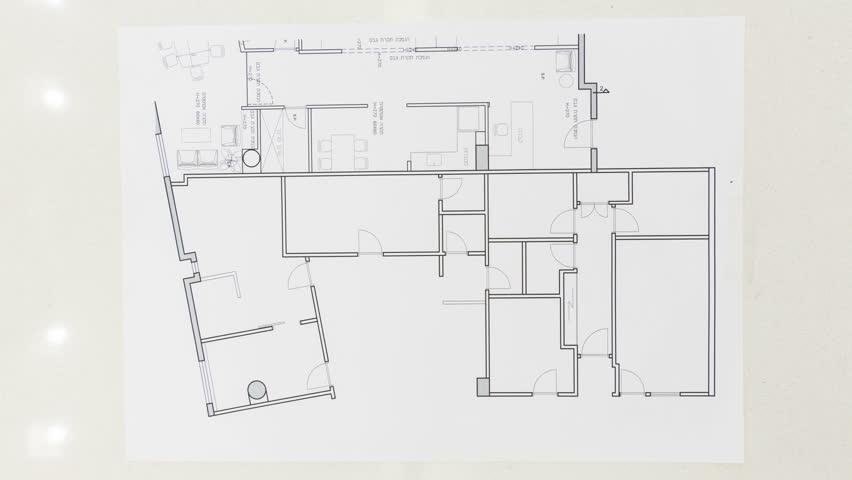 Creative Female Interior Designers Drawing Design Plan Time Lapse