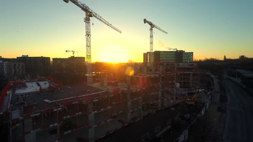 Aerial city view ,modern city construction and development London | Shutterstock HD Video #8940946