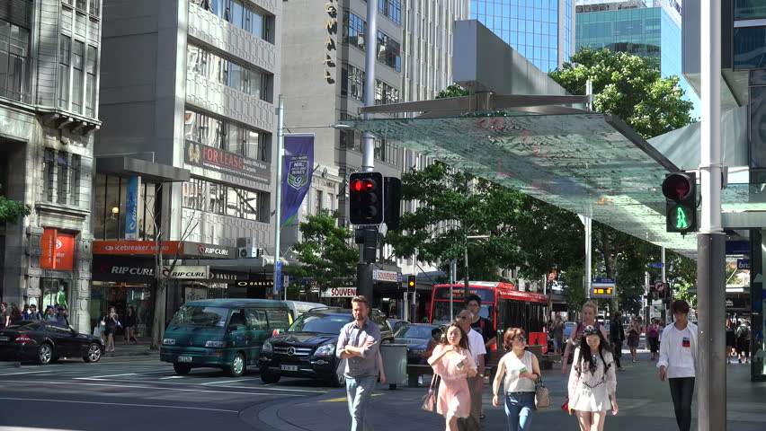 AUCKLAND, NORTH ISLAND/NEW ZEALAND - JANUARY 13, 2015: Unidentified 