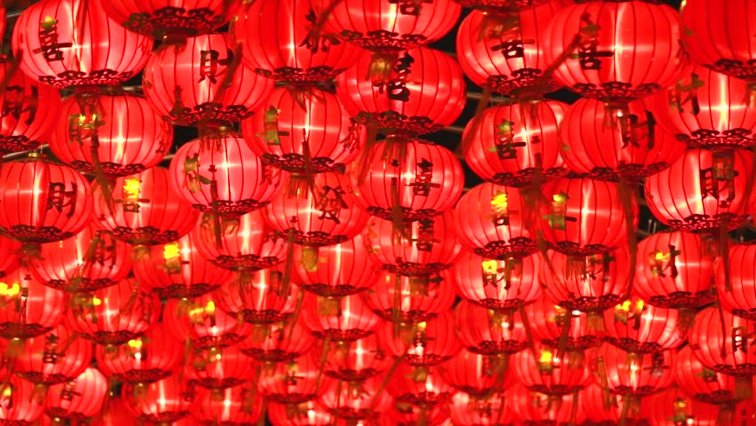 Chinese lantern,for celebrate Chinese New Year, Chinese red lantern,for celebrate spring festival, 1920x1080