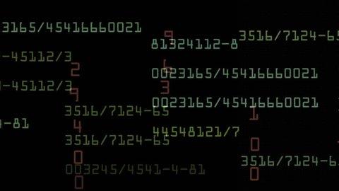 Stock exchange numbers data background,Computer program backdrop,big data tech technology coding programming,hacker encryption&decryption computing storage,high-tech mathematics scan search. 0565_4k