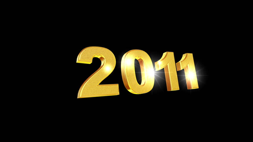 Happy New Year 2011 3d animation.