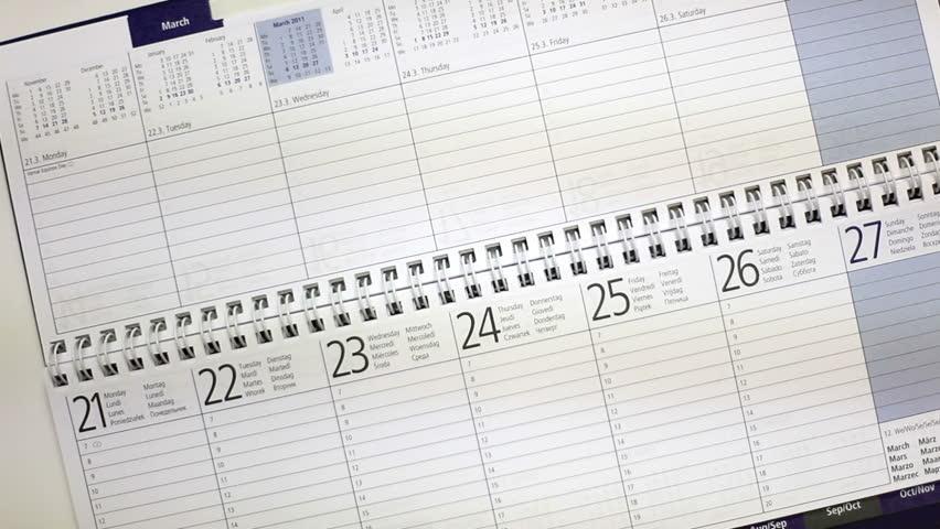 Using calendar | Shutterstock HD Video #9182939