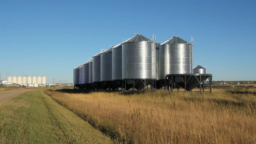 Grain Elevator With Dramatic Clouds Saskatchewan Canada Grain - Current time in saskatchewan