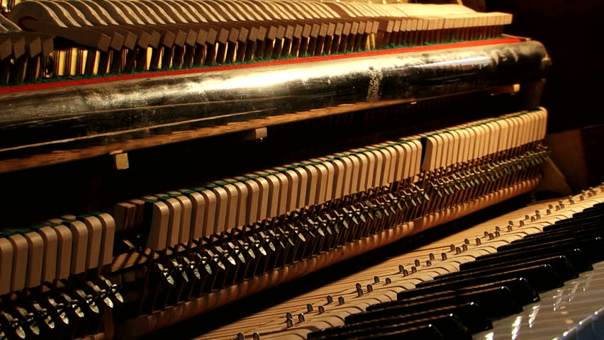 Piano Mechanics Inside Hammers Strings Stock Footage Video (100%  Royalty-free) 9253196 | Shutterstock