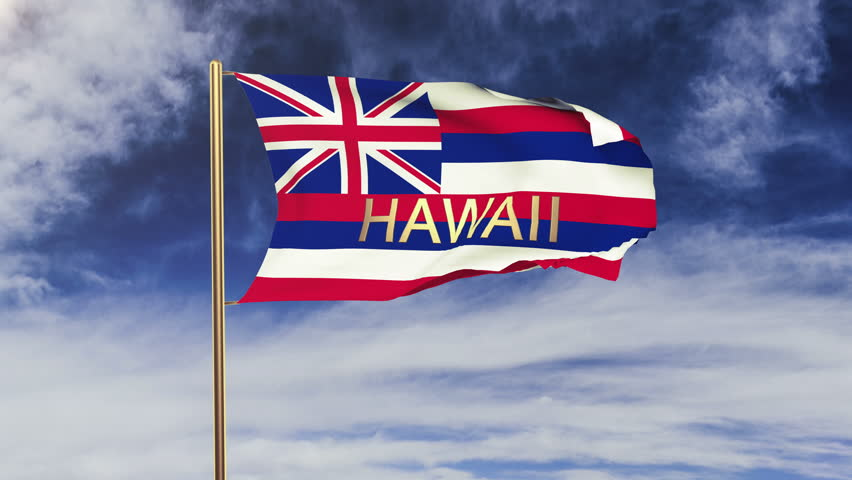 Hawaii flag with title waving in the wind. Looping sun rises style.  Animation loop   Shutterstock HD Video #9270416