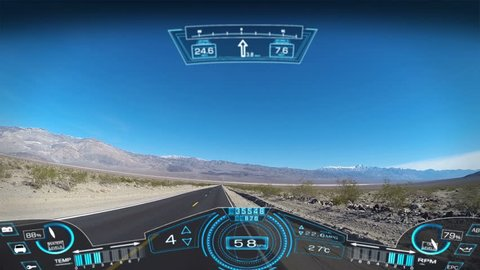 driving pov travel apps motion graphics hud interaction GPS technology satellite