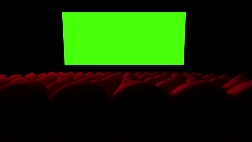 Cinema screen with green screen and open red seats | Shutterstock HD Video #9311573