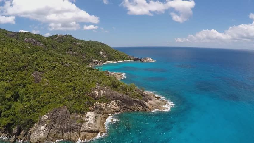 The aerial view near Anse Major, Mahe island, Seychelles