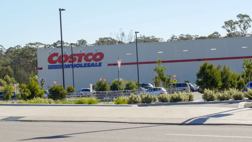 CASULA, NSW, AUSTRALIA - MARCH 27, 2015: Costco opens second Sydney store in Casula, NSW. Costco Wholesale Corporation, a membership only warehouse club, is the third largest retailer in the world.