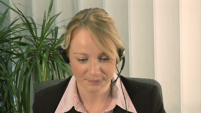 Businesswoman on Headset