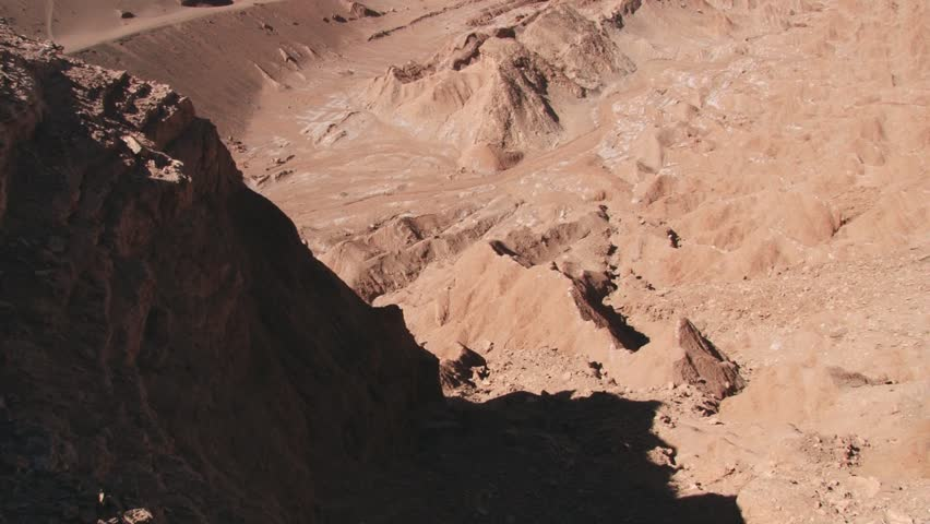 View to the unique sand and clay hills of the Death Valley in Atacama desert, Chile. | Shutterstock HD Video #9541616
